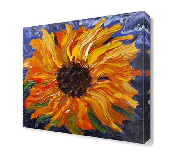 Fb 11243 68 yagli boya sari cicek tablosu cicek tablolari dekorsevgisi