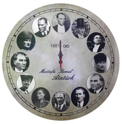 Atatürk Saati Dekoratif Ürün 45x45cm