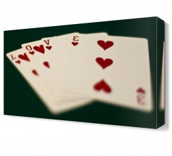 Dekorsevgisi - Love Poker Yazısı Canvas Tablo (1)