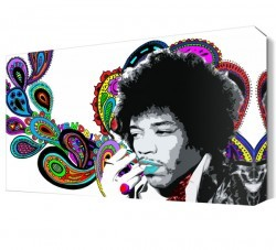 Dekorsevgisi - Jimi Hendrix Pop Art Canvas Tablo (1)