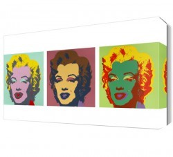 Dekorsevgisi - Marilyn Monroe 3 Resim Canvas Tablo (1)
