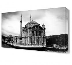 Dekorsevgisi - Ortaköy Cami Siyah Beyaz Canvas Tablo (1)