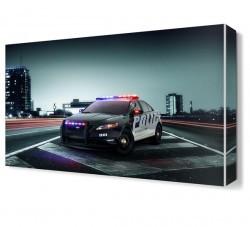 Dekorsevgisi - Polis Aracı Canvas Tablo (1)