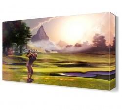 Dekorsevgisi - Golfçü Canvas Tablo (1)