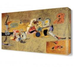 Arshile Gorky Soyut Canvas Tablo - Thumbnail