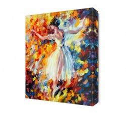 Dekorsevgisi - Beyazlı Balerin Canvas Tablo (1)