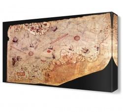 Dekorsevgisi - Piri Reis Haritası Canvas Tablo (1)