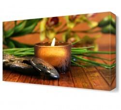 Dekorsevgisi - Islak Masaj Taşları Canvas Tablo (1)