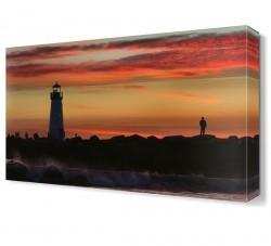 Dekorsevgisi - Deniz Feneri Gün Batımı Tablosu (1)