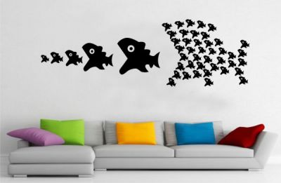 Büyük Balık Küçük Balık Sticker