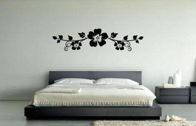 Çiçek Desenli Duvar Stickeri