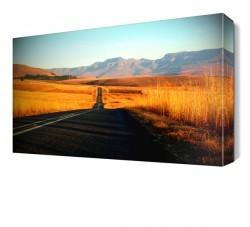 Dekorsevgisi - Dağ Manzaralı Yol Canvas Tablo (1)