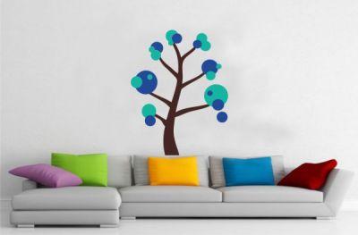 Dekoratif Ağaç Yapışkanlı Sticker