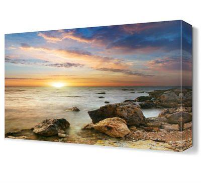 Güneş ve Deniz Manzarası Canvas Tablo