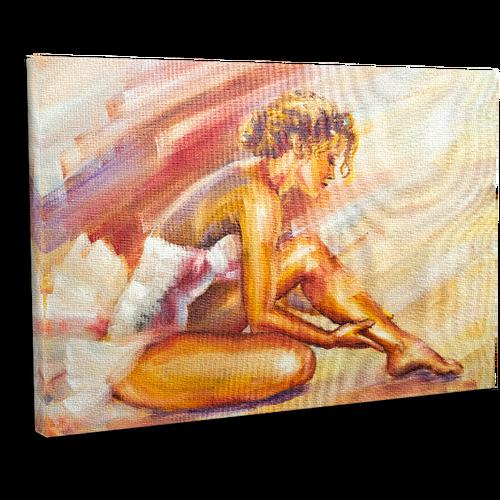 Güzel Oturma Balerin Canvas Tablosu