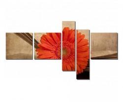 Dekorsevgisi - Kitap Arasındaki Turuncu Çiçek Tablosu (1)