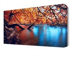 Dekorsevgisi - Renkli Göl Canvas Tablo (1)