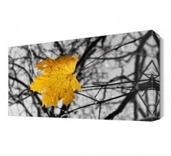 Dekorsevgisi - Sarı Yaprak Canvas Tablo (1)
