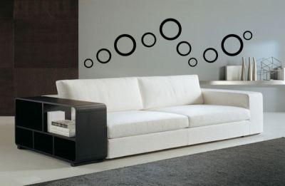 Siyah Daireler Duvar Stickeri