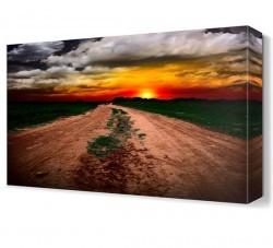 Dekorsevgisi - Bulutlar ve Güneş Manzarası Canvas Tablo (1)