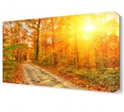 Dekorsevgisi - Sonbahar Yapraklı Canvas Tablo (1)