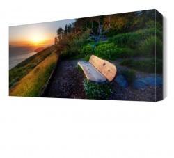 Dekorsevgisi - Bank ve Deniz Manzarası Canvas Tablo (1)
