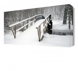 Dekorsevgisi - Kara Bürünmüş Köprü Canvas Tablo (1)