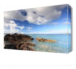 Deniz ve Kayalıklar Canvas Tablo - Thumbnail