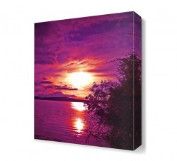 Dekorsevgisi - Mor Deniz Manzarası Canvas Tablo (1)
