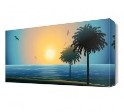 Dekorsevgisi - Kumsal ve Ağaç Canvas Tablo (1)