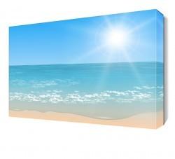 Dekorsevgisi - Deniz Güneş ve Kumsal Canvas Tablo (1)