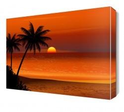 Dekorsevgisi - Kumsal Akşam Güneşi Canvas Tablo (1)