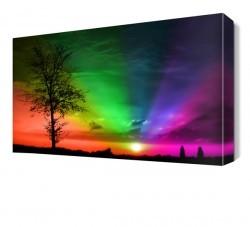 Dekorsevgisi - Renkli Gökyüzü Canvas Tablo (1)