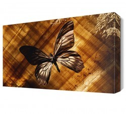 Dekorsevgisi - Kahve Rengi Kelebek Canvas Tablo (1)