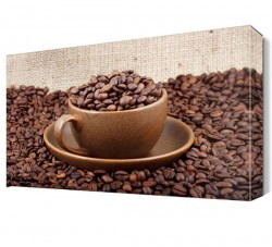 Dekorsevgisi - Bir Fincan Kahve Canvas Tablo (1)