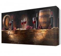 Dekorsevgisi - Şarap Koleksiyonu Canvas Tablo (1)
