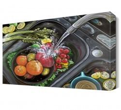Dekorsevgisi - Yıkanan Meyveler Canvas Tablo (1)
