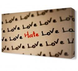 Dekorsevgisi - Aşk ve Nefret Canvas Tablo (1)