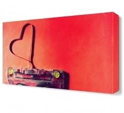 Dekorsevgisi - Kalp Şekilli Çanta Canvas Tablo (1)