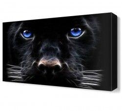 Siyah Köpek Canvas Tablo