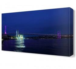 İstanbul Boğaz Köprüsü Canvas Tablo - Thumbnail