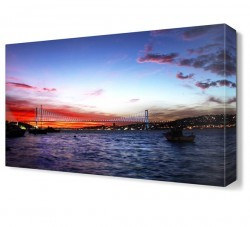 Dekorsevgisi - Kızıl Manzara Boğaz Köprüsü Canvas Tablo (1)