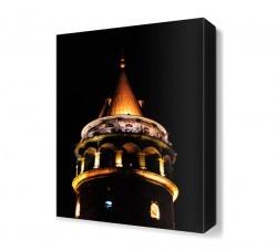 Dekorsevgisi - Galata Kulesi Gece Manzarası Canvas Tablo (1)