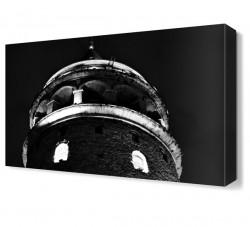 Galata Kulesi Siyah Beyaz Canvas Tablo - Thumbnail