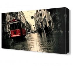 Taksim Tramway Canvas Tablo - Thumbnail
