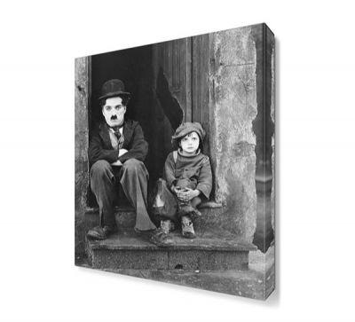 Chaplin The Kid Canvas Tablo