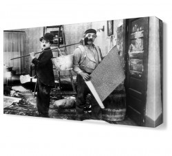 Dekorsevgisi - Charlie Chaplin New Job Canvas Tablo (1)