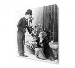 City Lights Charlie Chaplin Canvas Tablo - Thumbnail