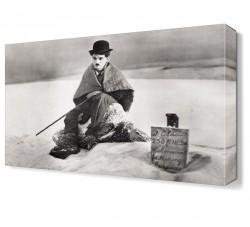 Charlie Chaplin2 Canvas Tablo - Thumbnail