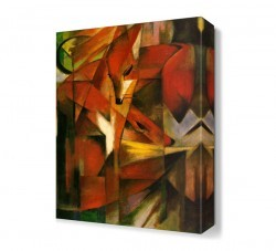 Dekorsevgisi - Franz Marc Tilkiler Canvas Tablo (1)